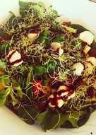 Ensalada de espinacas y frutas