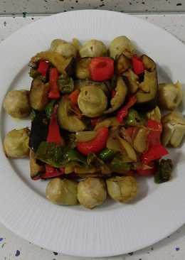 Mix de verduras salteadas con ras el hanout