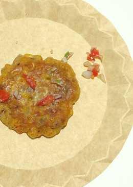 Buñuelos vegetarianos de maíz y verduras