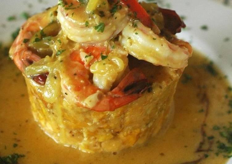 Mofongo Relleno De Camarones Al Ajillo Receta De Jayro Seafood Cookpad