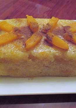 Postre de tapioca con calabaza y manzanas