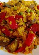 Arroz melosillo, con verduras y morrones...muy light