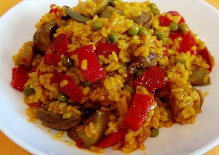 Arroz melosillo con verduras y morrones muy light - Arroz con verduras light ...