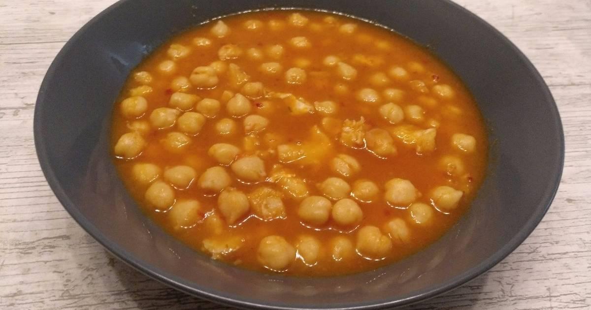 Garbanzos de bote 87 recetas caseras cookpad - Preparacion de garbanzos cocidos ...