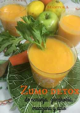 Zumo Detox de zanahoria, naranja, manzana y apio