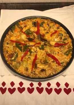 Arroz con pollo y verduras (Apto diabéticos)