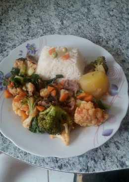 Guiso de vegetales con hígado