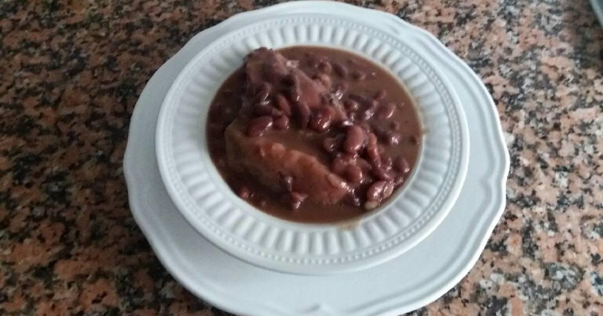 Alubias rojas 115 recetas caseras cookpad - Alubias rojas con costilla ...
