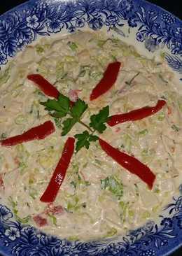 Ensaladilla de cola de langosta, langostinos y piña🍍