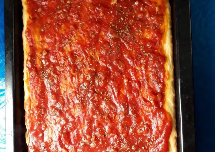 Receta de pizza con royal