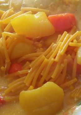 Patatas al azafrán