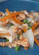 Salteado de pavo al wok para dieta