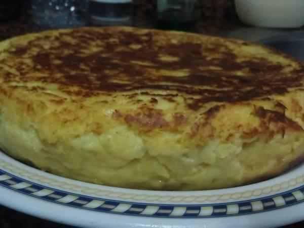 Tortilla de patatas gorda y fácil