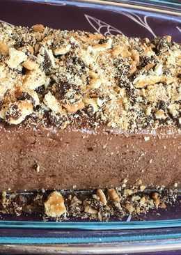 Pudín de galletas de chocolate (sin horno)