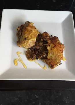 Pollo encebollado a la miel y mostaza