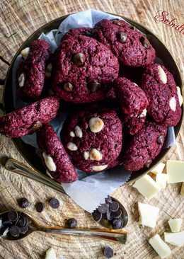 Cookies Red Velvet con Chocolate