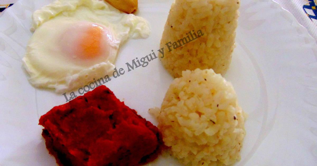 Arroz a la cubana para dieta sin sal receta de la cocina - Calorias arroz a la cubana ...