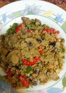 Soja texturizada 97 recetas caseras cookpad - Cocinar quinoa con verduras ...