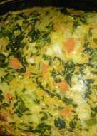 Tortilla de acelga y zanahoria al horno