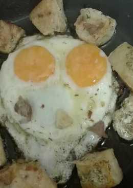 Emperador al ajillo con huevo frito « San Valentín »