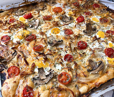 Pizza con base de berenjena (sin masa)
