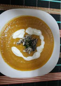 Crema de calabaza y zanahoria especiada
