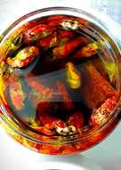 Tomates secos al sol en aceite de oliva virgen extra puro