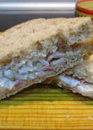 Sándwich frío de lacón al horno