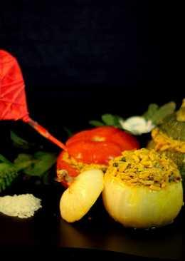 Dolmas de Hortalizas rellenas con Risotto de Setas para San Valentín