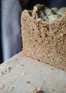 Pan integral de trigo en panificadora