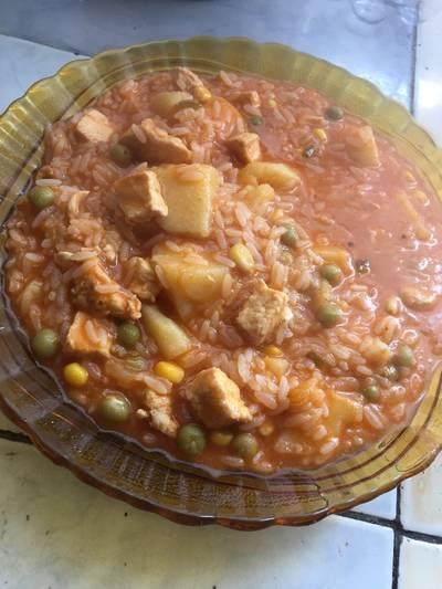 Guiso de arroz con suprema