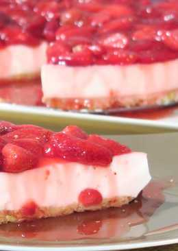 (Vídeo) Cheesecake con fresas SIN HORNO