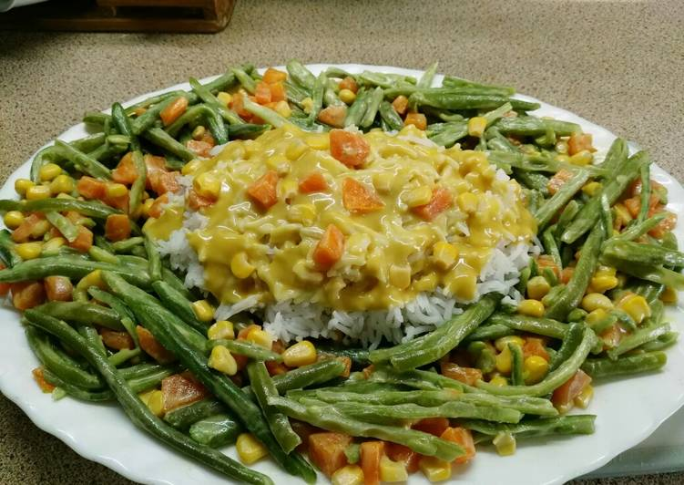 Judías verdes con arroz basmati