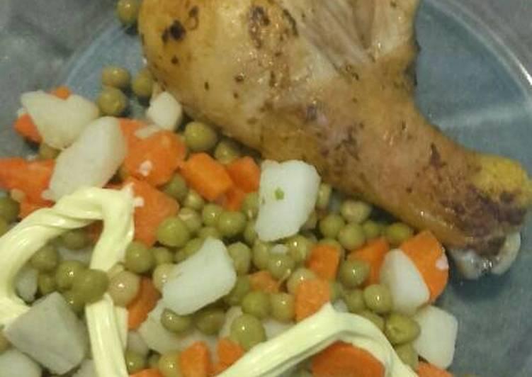 recipe: ensalada rusa con pollo al horno [5]