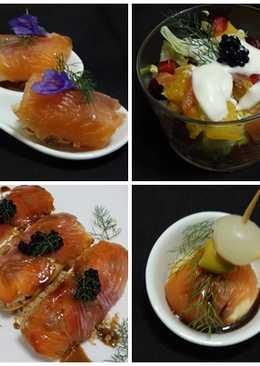 4 Aperitivos con salmón ahumado