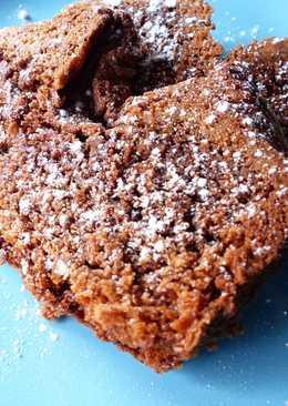 Bizcocho estilo brownie en panificadora sin harina