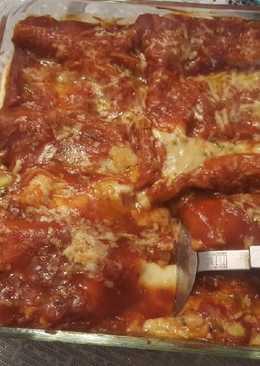 Lasagna de langostinos