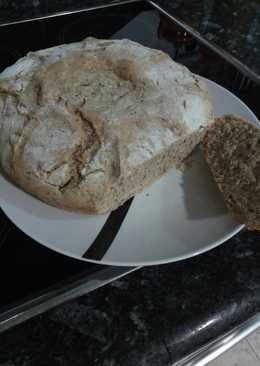 Pan de calabaza roja con tres harinas