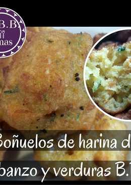 Buñuelos de harina de garbanzo y verduras (Veganos) B.B.B.