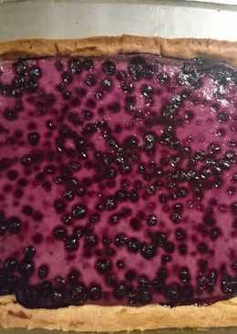 Mustikkapiirakka (tarta de arándanos finlandesa)