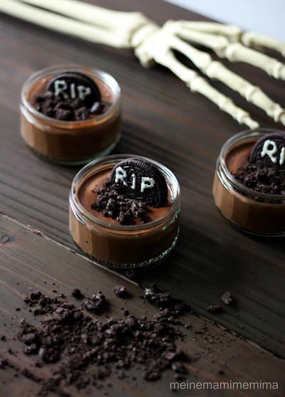 Mousse terrorífica de chocolate