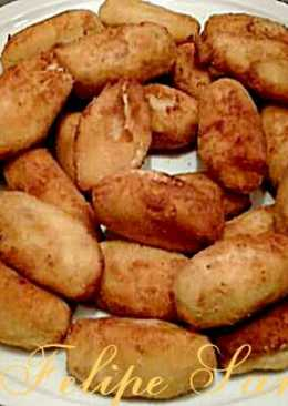 Croquetas de pollo y boletus.