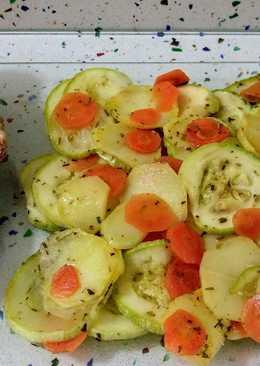 Solomillo relleno de pistachos, foie y pasas con verduras al vapor