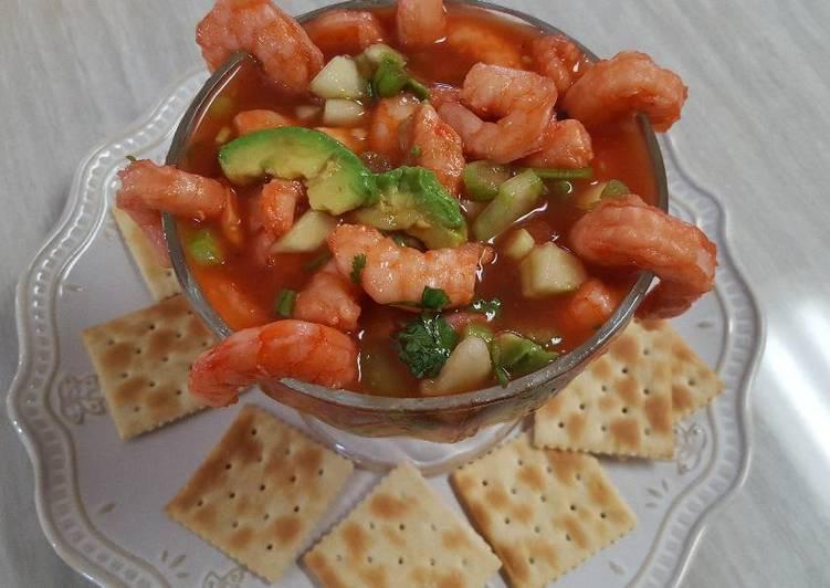 C ctel de camarones receta de cocina m s con sandy cookpad - Coctel de marisco ingredientes ...