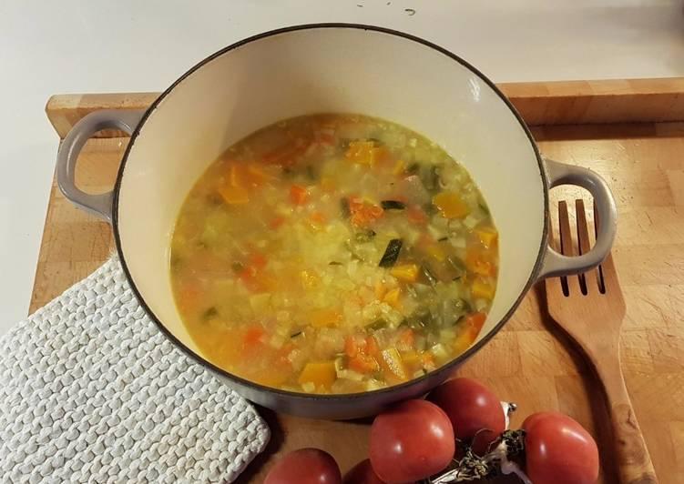 Sopa verduras (aprovecho restos)