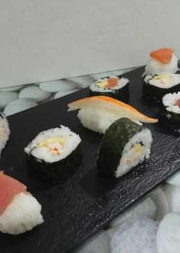 Sushi sencillo, varios tipos