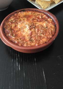 Carne picada para dipear con chorizo y queso