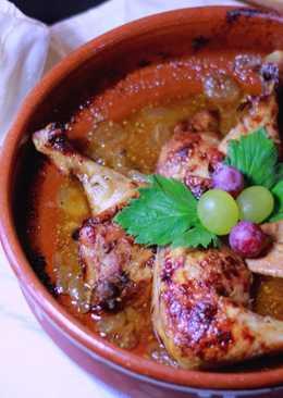 Pollo Asado con Salsa de Uvas
