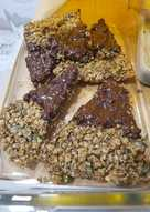 Flapjacks con chocolate