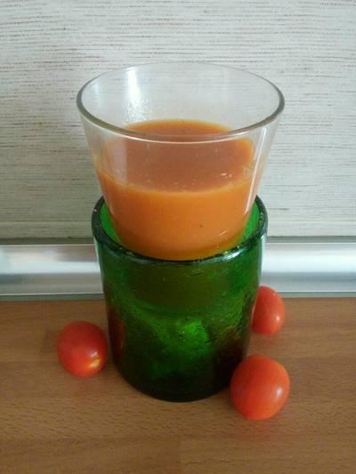 Gazpacho súper frío con manzana